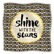 KESS InHouse Shine with the Stars Fleece Throw Blanket; 40'' L x 30'' W