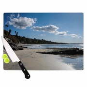 KESS InHouse Clouds Over Swamis Beach Cutting Board; 15.75'' W x 11.5'' D
