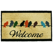 Home & More Birds On A Wire Doormat