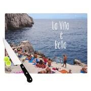 KESS InHouse La Vita E Bella Cutting Board; 11.5'' W x 8.25'' D