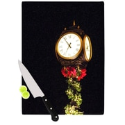 KESS InHouse Xmas Clock Seasonal Cutting Board; 11.5'' W x 8.25'' D