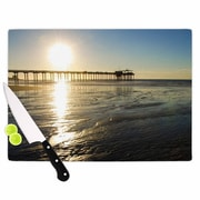 KESS InHouse Sun Over Scripps Pier Cutting Board; 11.5'' W x 8.25'' D