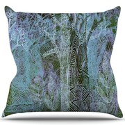 KESS InHouse Wild Forest Throw Pillow; 26'' H x 26'' W
