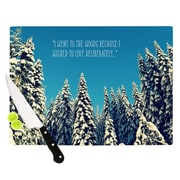 KESS InHouse I Went to the Woods Cutting Board; 11.5'' W x 8.25'' D