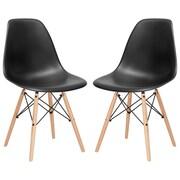 Edgemod Side Chair (Set of 2); Black