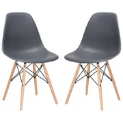 Edgemod Side Chair (Set of 2); Grey