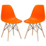 Edgemod Side Chair (Set of 2); Orange