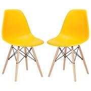Edgemod Side Chair (Set of 2); Yellow