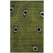 Herat Oriental Hand-tufted Gabbeh Green/ Ivory Wool Rug