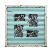 Evergreen Enterprises, Inc Corrugate Metal w/ Distressed Wood Picture Frame