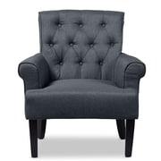Wholesale Interiors Baxton Studio Arm Chair; Gray