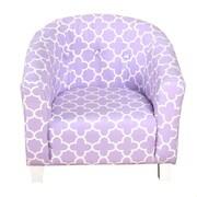 HomePop Modern Lavender Juvenile Tub Arm Chair