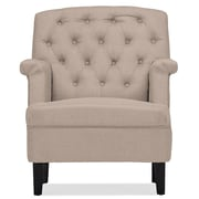 Wholesale Interiors Baxton Studio Classic Retro Upholstered Arm Chair; Beige
