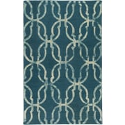 Artistic Weavers Organic Julia Hand-Tufted Teal/Beige Area Rug; 5' x 8'