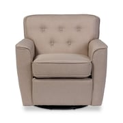 Wholesale Interiors Baxton Studio Retro Upholstered Lounge Chair; Beige