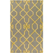 Artistic Weavers Organic Amanda Hand-Tufted Light Gray/Yellow Area Rug; 9' x 13'