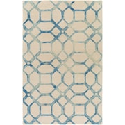 Artistic Weavers Organic Brittany Hand-Tufted Teal/Ivory Area Rug; 5' x 8'