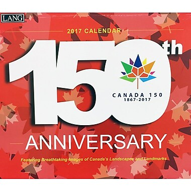 LANG 2017 Wall Calendar: 150th Anniversary Canada, (17341001989)