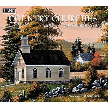 LANG 2017 Wall Calendar: Country Churches, (17991001904)