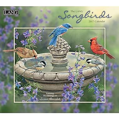 LANG 2017 Wall Calendar: Songbirds, (17991001880)