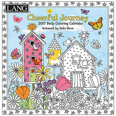 LANG (17991023013) 2017 Cheerful Journey Colouring 365 Day Boxed Calendars