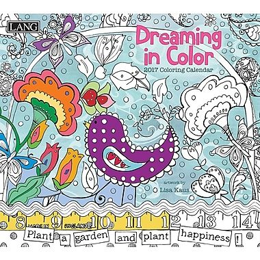 LANG (17991023010) 2017 Dreaming In Colour Colouring 365 Day Boxed Calendars