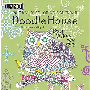 LANG (17991023012) 2017 Doodle House Colouring 365 Day Boxed Calendars