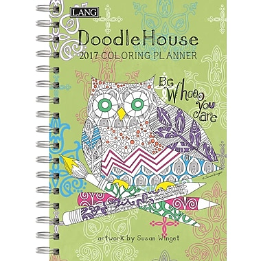 LANG (17991022020) 2017 Doodle House Spiral Colouring Planner