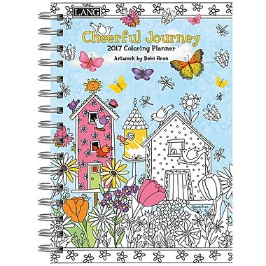 LANG (17991022021) 2017 Cheerful Journey Spiral Colouring Planner