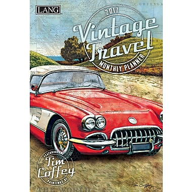 LANG (17991012105) 2017 Vintage Travel Monthly Planner