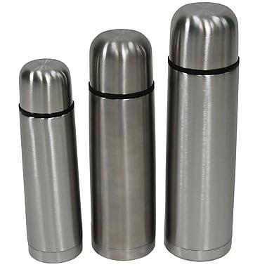 Cathay Importers – Bouteille isotherme en acier inoxydable, à paroi double, isolation thermique, ensemble de 3, (EC-18-0046)
