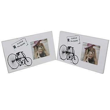 Cathay Importers Vintage Bicycle Theme Wood Photo Frame, 4