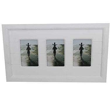 Cathay Importers - Cadre en bois pour 3 photos de 4 po x 6 po, blanc
