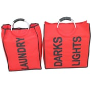 Cathay Importers Fabric Laundry Totes, Large and Small, Red, Bilingual
