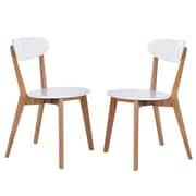 Chaise d'appoint blanc moderne avec pattes en chêne américain naturel