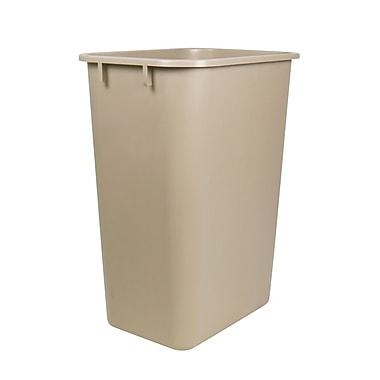 Staples® 38.5 L Wastebasket, Taupe