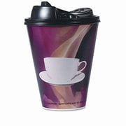 Boardwalk Paper Wrapped Foam Hot Cups, 16 Ounces, Black and White, 160 Per Carton