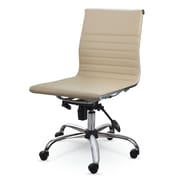 Winport Industries Mid-Back Leather Conference Chair; Cream