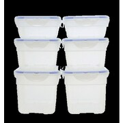 Lock & Lock 6 Piece Food Storage Set with Travel Tote; Clear