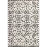 Bashian Rugs Ferms Wheel Hand-Tufted Grey Area Rug; Runner 2'6'' x 8'