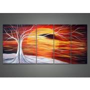 DesignArt Sunshine Landscape 5 Piece Original Painting on Canvas Set