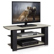 Home Loft Concepts Parsons TV Stand; French Grey Oak