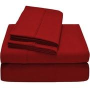 Bare Home Premium Ultra Soft Twin XL Sheet Set; Pepper Red