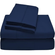 Bare Home Premium Ultra Soft Twin XL Sheet Set; Navy Blue