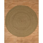 Natural Area Rugs Cancun Jute Hand Woven Natural Area Rug; Round 8'