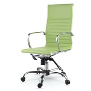 Winport Industries High-Back Eco-Leather Executive Swivel Office Chair with Arms