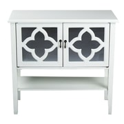 Heather Ann 2 Door Console Cabinet; Antique White