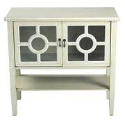 Heather Ann 2 Door Console Cabinet; Beige Finish/White