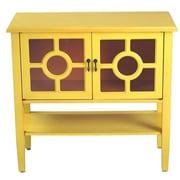 Heather Ann 2 Door Console Cabinet; Yellow