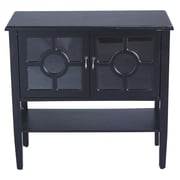 Heather Ann 2 Door Console Cabinet; Black